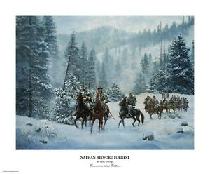 """""""Nathan Bedford Forrest"""" Don Stivers Commemorative Edition Giclee Print"""