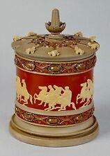 Ca 1860 grès fin Boch Frères Keramis Louvière pot tabac ceramic Belgian pottery