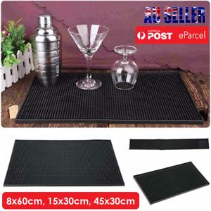 BAR MAT - Runner Non-Slip Bar Cave Beer Spill Perfect Mat Rubber Club Barware AU