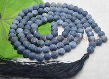 8mm Tibetan Buddhism 108 Bead Black Dream Fire Agate Prayer Mantra Mala Necklace