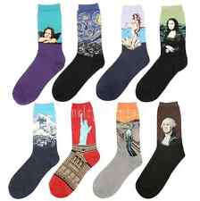 Unique Famous Painting Art Socks Novelty Funny Novelty For Men Women mous