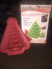 3D Christmas tree silicone molds  holiday baking cake pan mold