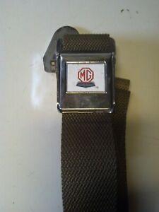 MG seat belt with MG/Austin logo