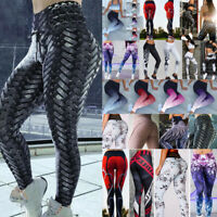 Hot Women High Waist Yoga Leggings Fitness Sports Pants Running Stretch Trousers