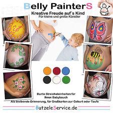 Farben Set Schwangerschafts Bauch Bemalung do it yourself Baby Bauch bemalen NEU