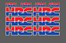 KIT 10 ADESIVI HRC MOTO CASCO STICKERS CBR HORNET AFRICA TWIN CB XAdv integra