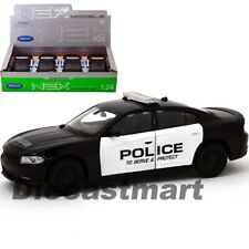 2016 DODGE CHARGER R/T HEMI V8  POLICE 1:24 DIECAST MODEL BY WELLY 28079 NEW
