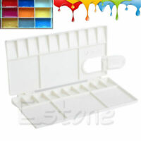 25 Grids Large Art Paint Tray Artist Oil Watercolor White Plastic Palette e