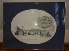 US Naval Academy Print Navy Bancroft Hall Don Cannavaro Signed Framed Lithograph
