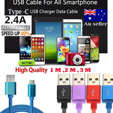 1/2/3M Long Braided Charging Cable USB Type-C Cord For Rapid Charging S9 S8 + AU