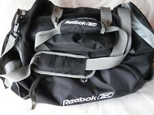 reebok Black Duffle Bag With Shoulder Strap Pre Owned very Good Shape