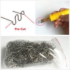 400 x Standard 0.8mm Pre-Cut Wave Staples Repair Kits Welders For Plastic Welder