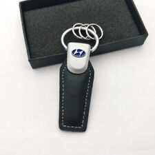 2017 Fashion Leather Key Chain zinc alloy Car logo keyChain Key Ring For Hyundai
