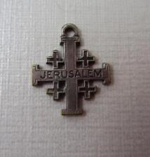 Vintage Silver JERUSALEM CROSS Charm