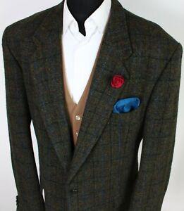 Harris Tweed Blazer Jacket Green 50L SUPERB QUALITY X374