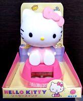 SANRIO Hello Kitty Cute solar battery bobble swing Pink KY-02 gift present