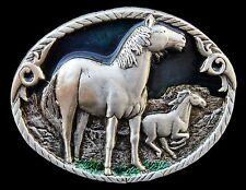 Equestrian Horse Mere Horses Western Farm Ranch Belt Buckles Boucle de Ceinture