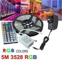3528 SMD 5M RGB LED Strip Lights+44 Key IR Remote Controller+12V 2A AU Power Kit