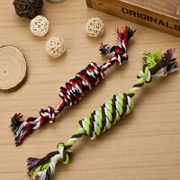 1PC Puppy Dog Pet Toy Cotton Braided Bone Rope Chew Knot New Random color SE