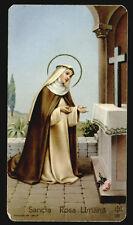 """santino-holy card""""""""ediz. FB n.168 S.ROSA DA LIMA"""