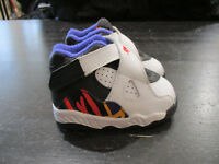 Nike Air Jordan Retro 8 Shoes size 4c 4 C White Purple Grape 3 Peat Kids Boys