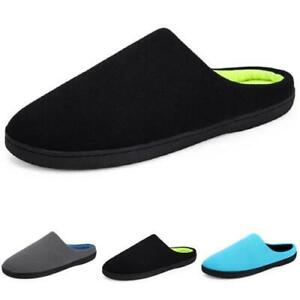 Mens Indoor Slippers Shoes Comfy Slip on Warm Slingbacks Flats Home Casual New B