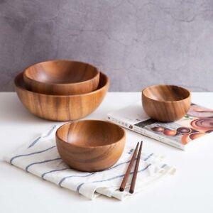 Natural Acacia Wood Heat Insulation Wooden Bowl Bowl Ramen Bowls Tableware