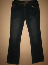 P22) WOMENS LEE COOPER BLUE BOOTCUT JEANS SIZE 12  LEG 32 INCH   ZIP FLY
