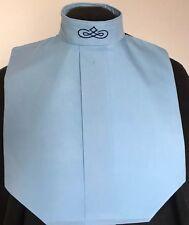 English Hunt Seat Ratcatcher Lt Blue Show Bib Dickie With Collar Embellishment