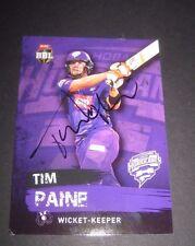Tim Paine (Australia) signed Hobart Hurricanes BBL  Cricket Card + COA
