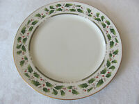Royal Limited Holly Holiday-Holly w/ Gold Rim -Dinner Plate(s) -Up to 8 Avail