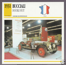 1931 Bucciali Double Huit Eight (8) TAV 16 Car Photo Spec Sheet Info French Card