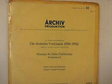 LP Deutsche Vorklassik, Tafelmusik ARCHIV 14336/37 2LPs
