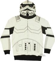 Star Wars I Am Stormtrooper Costume Zipped Mask Zip Up Hoodie