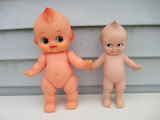 "2 Kewpie Dolls 10"" Cameo 1974 Jlk & 11.25"" Made In Japan with Squeaker"