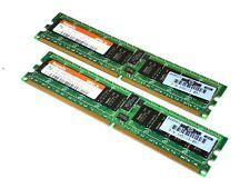 Hynix 2GB (2 X 1GB) DDR2 PC2-3200R 400MHz ECC Server Memory Ram HYMP512R72P4-E3