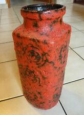 Wunderschöne Keramik Fat Lava Vase JURA rot Scheurich 282/26 WGP 60s 70s