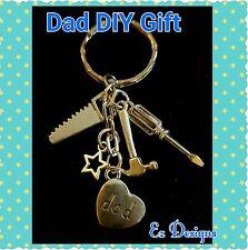 DAD KEYRING☆DIY TOOLS☆XMAS Birthday GIFT FREEPOST&BAG HANDMADE Xmas GIFT