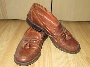 Mens RUSSELL&BROMLEY Brown All Leather Tassel Loafers Shoes Size 41 / UK 7 GREAT
