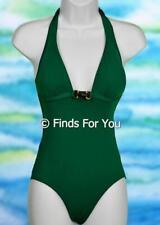 J Crew Women's Luxe Amber Bar Tank Bathing Suit Swimsuit One Piece Green 0 85641