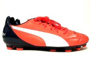 Puma Evopower 4.2 HG Soccer Cleats Orange Blue Mens 103222-08 Size 8