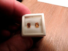 2pc Dry Cottonwood Creek Montana Natural Yellow Sapphires. Cut by me :) 1.50tcw