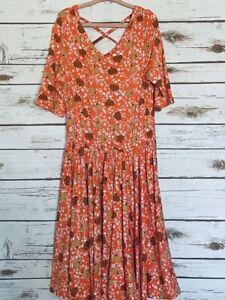 Dot Dot Smile Twirl Dress 8/10 Worn Once Ballerina Pumpkin Leggings Material