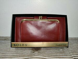Vintage Rolfs Bifold Cowhide Wallet Kiss Lock Coin Change Purse And Check Book