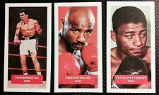 BOXING - All 3 Score World Sports trade cards MUHAMMAD ALI, HAGLER, PATTERSON
