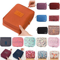 Women Portable Roll Up Hanging Toiletry Pouch Ladies Travel Make Up Bag Handbag