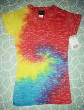 K.O.A.H RAINBOW TIE DYE BURNOUT T-SHIRT! JUNIOR SIZE SMALL!