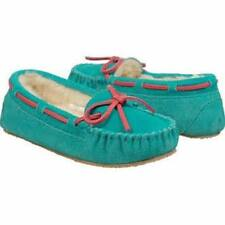 GIRL'S MINNETONKA * BRITTA TRAPPER MOCCASSINS* COLOR~TURQUOISE SIZE 11 M