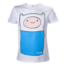 Adventure Time - White Finn Full Front T-Shirt Unisex Tg. L