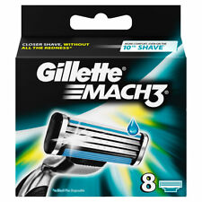 Gillette Mach3 Razor Blade Refill Cartridges for Mach 3 Razor, 8 Count